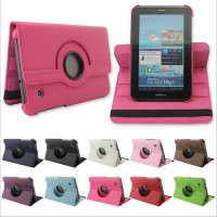 [globalbuy] 2016 new 360 Rotating Folio PU Leather Case Cover for Samsung Galaxy Tab 2 7 G/3762892