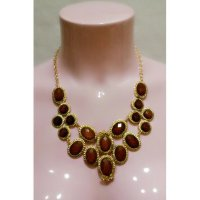 Classic Style Gold Brown Necklace