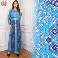SB Collection Gamis Maxi Dress Raisya Longdress Terusan Casual Batik Wanita