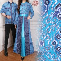 SB Collection Couple Gamis Rara Dress Maxi Longdress Dan Kemeja Batik Pria