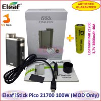Eleaf iStick Pico 21700 100W Vaporizer Box MOD with Battery Authen - Black
