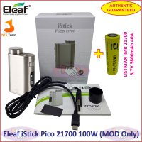 Eleaf iStick Pico 21700 100W Vaporizer Box MOD with Battery Authen - Brush Silver