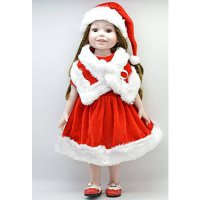 [macyskorea] Mishine 18 Inch American Girl Doll Clothes Red Santa Suit ,4pc, hat,scarf ,Dr/17228591