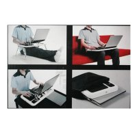 T04 - Portable Compact Desk With Fan, Cup Holder, Mouse Pad,Meja Lipat