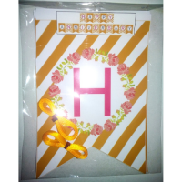 Bunting flag request tema 14x10cm