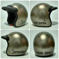 Helm bogo jpn arc Helm Retro/bogo JPN ARC + pet topi grey glossy