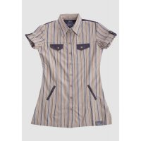 [LGS] Kemeja Slim Fit - Ladies Shirt - Brown/Khakis - Short Sleeve LLSH.380.SL616.005.7C