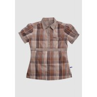 [LGS] Kemeja Slim Fit - Ladies Shirt - Brown - Plaid Shirt LLSH.380.SL765.520.7C