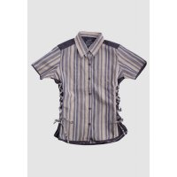 [LGS] Kemeja Slim Fit - Ladies Shirt - Brown - Salur Custom LLSH.380.WD625.074.7C
