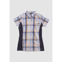 [LGS] Kemeja Slim Fit - Ladies Shirt - White - Plaid Shirt LLSH.380.WD730.453.7C