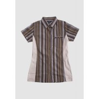 [LGS] Kemeja Slim Fit - Ladies Shirt - Brown - Salur