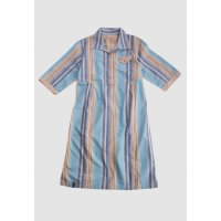 [LGS] Slim Fit - Ladies Shirt - Blue/Brown - Salur LLSH.380.WD761.463.7C L/S