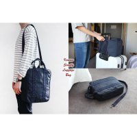 Korean Simply Luggage Bag NAVY BLUE (Tas bentuk koper mini)