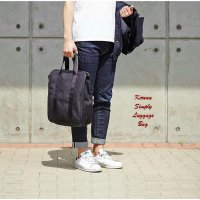 Korean Simply Luggage Bag BLACK (Tas bentuk koper mini)