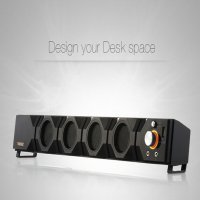 NL (TRN) 2-channel sound bar black speaker / PC speaker Computer Peripherals, PC, portable speaker, speaker, outdoor, camping supplies, mini speaker, 2 channels, wireless speakers, tablets, smart phones, AC terminals, home appliances, electronics sound , 1A USB charging port, LED lighting,