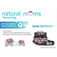 Natural Moms Natural Mom Thermal Bag Sling Elephant