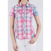 [LGS] Slim Fit - Ladies Shirt - Red/Blue - Short Sleeve LSH.380.O1118.399.C