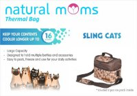 Natural Mom Thermal Bag Sling Cats