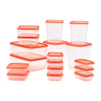 IKEA PRUTA Set 17pcs Original - Orange