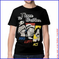 KAOS BAJU DISTRO ANIME - ONEPIECE THREE BROTHER