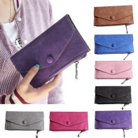 Women Leather Long Wallet Zip Around Case Purse Card Money Handbag Bag