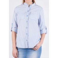 [LGS] Kemeja Slim Fit - Ladies Shirt - Blue - Long Sleeve