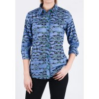 [LGS] Kemeja Slim Fit - Ladies Shirt - Blue - Long Sleeve LSH.382.O1256L.489.C L/S