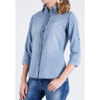 [LGS] Kemeja Slim Fit - Ladies Shirt - Blue Denim - Long Sleeve LSH.386.S1224L.483B.C L