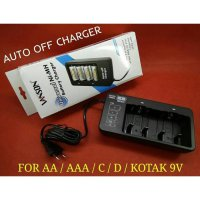 Vanson Auto Off Universal Charger V639 For AA / AAA / C / D / Kotak 9V