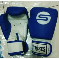 Gloves Boxing Muaythai Synthetic Blue/White | Sarung Tinju
