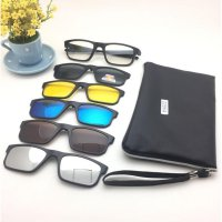 Frame Kaca Mata Clip On Free 5 Lensa Sunglasses Best Seller Model B