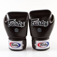 Fairtex Glove Black Solid / Sarung Tinju Muaythai Boxing MMA