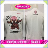 KAOS BAJU DISTRO ANIME - DEADPOOL CHIBI WHITE