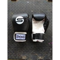 Sarung Tinju Muaythai Boxing Black and White | Gloves Muaythai Boxing