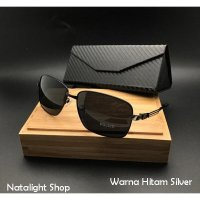 Kaca Mata Pria Sunglasses Police Aviator Turn Back Crime Polarize