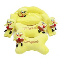 (Recommended) BANTAL MOBIL TULANG SPONGEBOB 3 IN 1 (09901836)