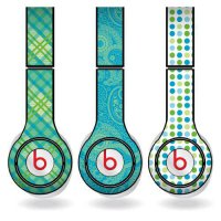 [poledit] VictoryStore Green & Teal Different Pattern Set of 3 Headphone Skins for Beats S/10474711