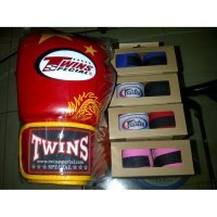 Glove,Sarung Tinju,Boxing Thai Twins + Handwrap Fairtex Sepasang