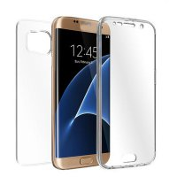 TPU Crystal Clear Cover Full Body Protective Case For Samsung Galaxy S7 Edge