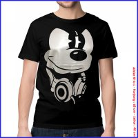 KAOS BAJU DISTRO ANIME - MIKI HEADPHONE SPANDEX MICKY MOUSE