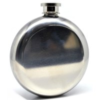 Botol Minum Wine Bir Flask Hip Round Shape Stainless Steel 5oz - Silver