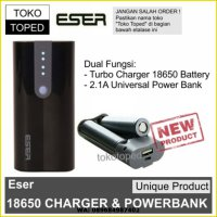 Eser 18650 Charger + Power Bank | fast charging battery powerbank