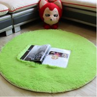 Karpet Bulu Model Bulat Dim. 80CM - Green