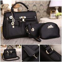 TAS FASHION WANITA IMPORT - TAS PAKET - MX302B BLACK NAVY COFFEE GREEN