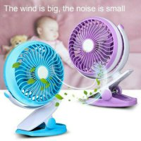 mini USB FAN with Clip for BABY Stroller--Bisa di charge