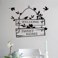 Sticker Wallpaper Dinding Welcome Sweet Home - Black