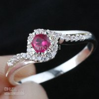 Women Lab Red Ruby Real Wedding 925 Sterling Silver Ring WEDN R144 Size 6.5 7 8 9 8