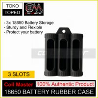Authentic Coil Master 3 Slot 18650 Battery Rubber Case | silicone rda