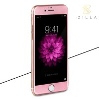 Zilla 3D Carbon Fiber Tempered Glass Curved Edge 9H for iPhone 6 Plus - Rose Gold