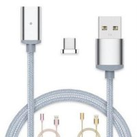 Kabel Charger Magnetic USB Type C - Silver